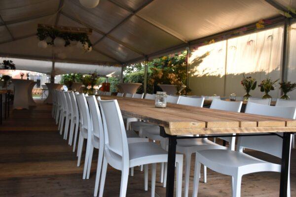 kadertent steigerhouten tafels jade